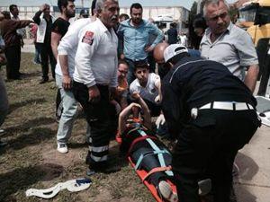 Kırıkkale'de trafik kazası - 14 yaralı