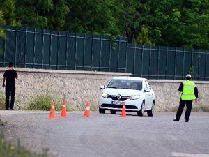 Soma girişinde polis kontrol noktaları