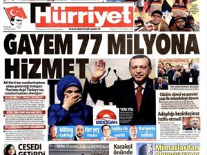 Erdoğan'ın adaylığı bütün gazetelere manşet oldu!