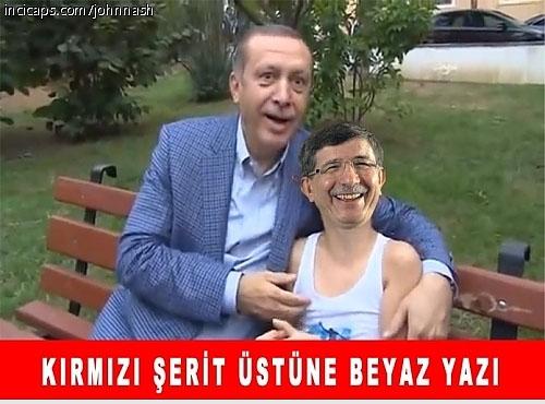Davutoğlu'nun güldüren capsleri galerisi resim 11