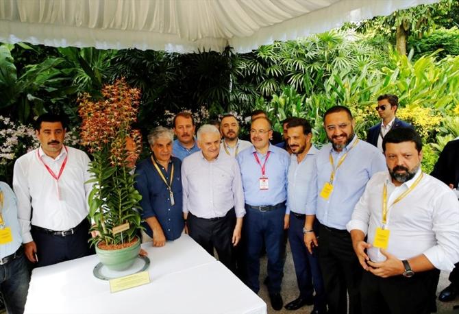 Singapur'da Binali Yıldırım'a orkide sürprizi galerisi resim 1