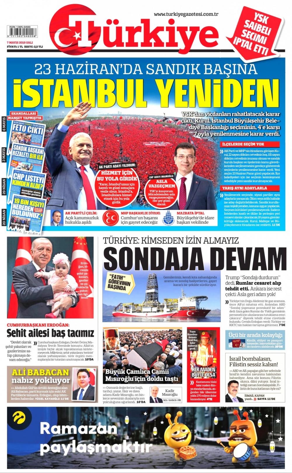 Seçim iptalini Türk basını nasıl gördü? galerisi resim 1