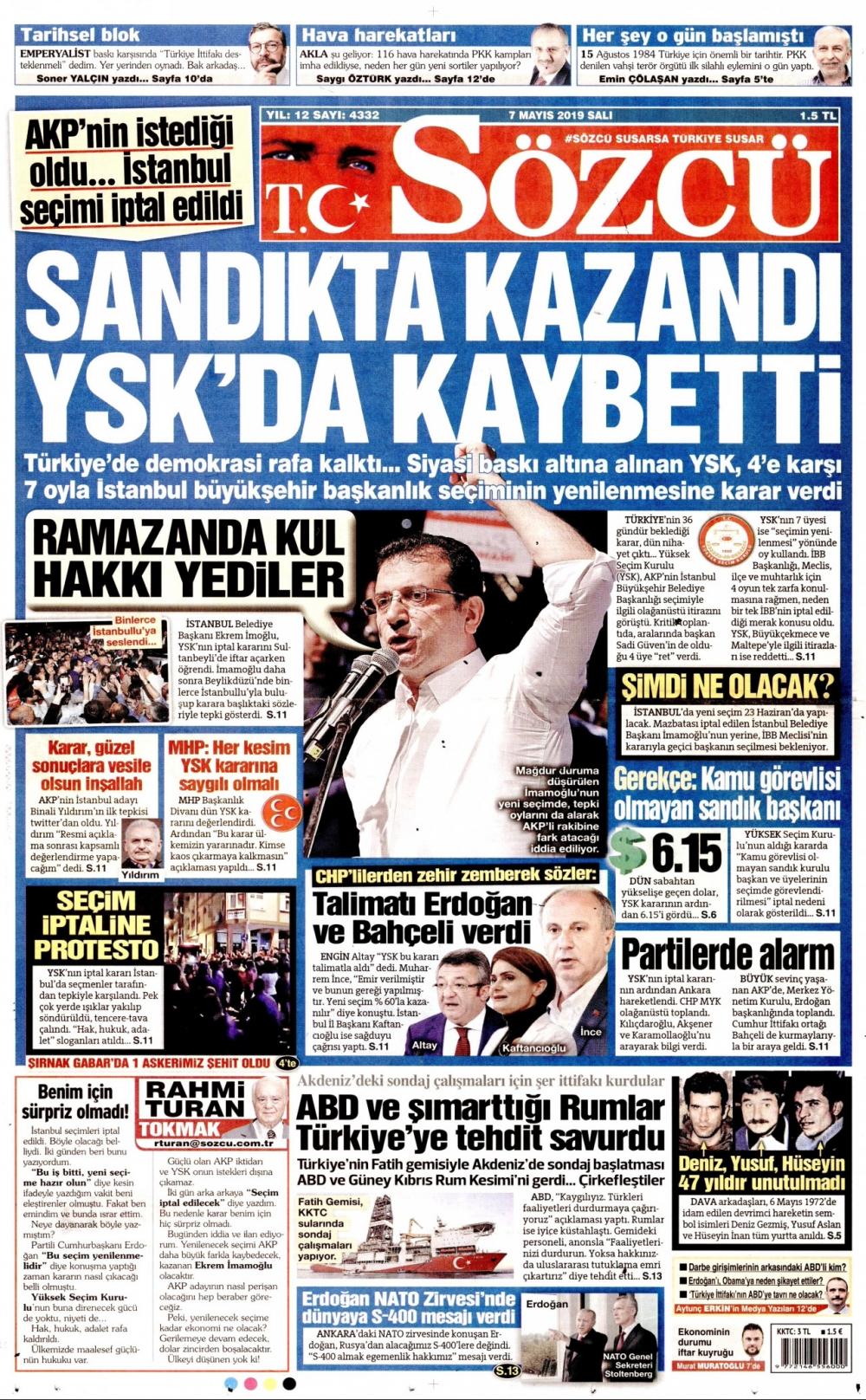 Seçim iptalini Türk basını nasıl gördü? galerisi resim 12