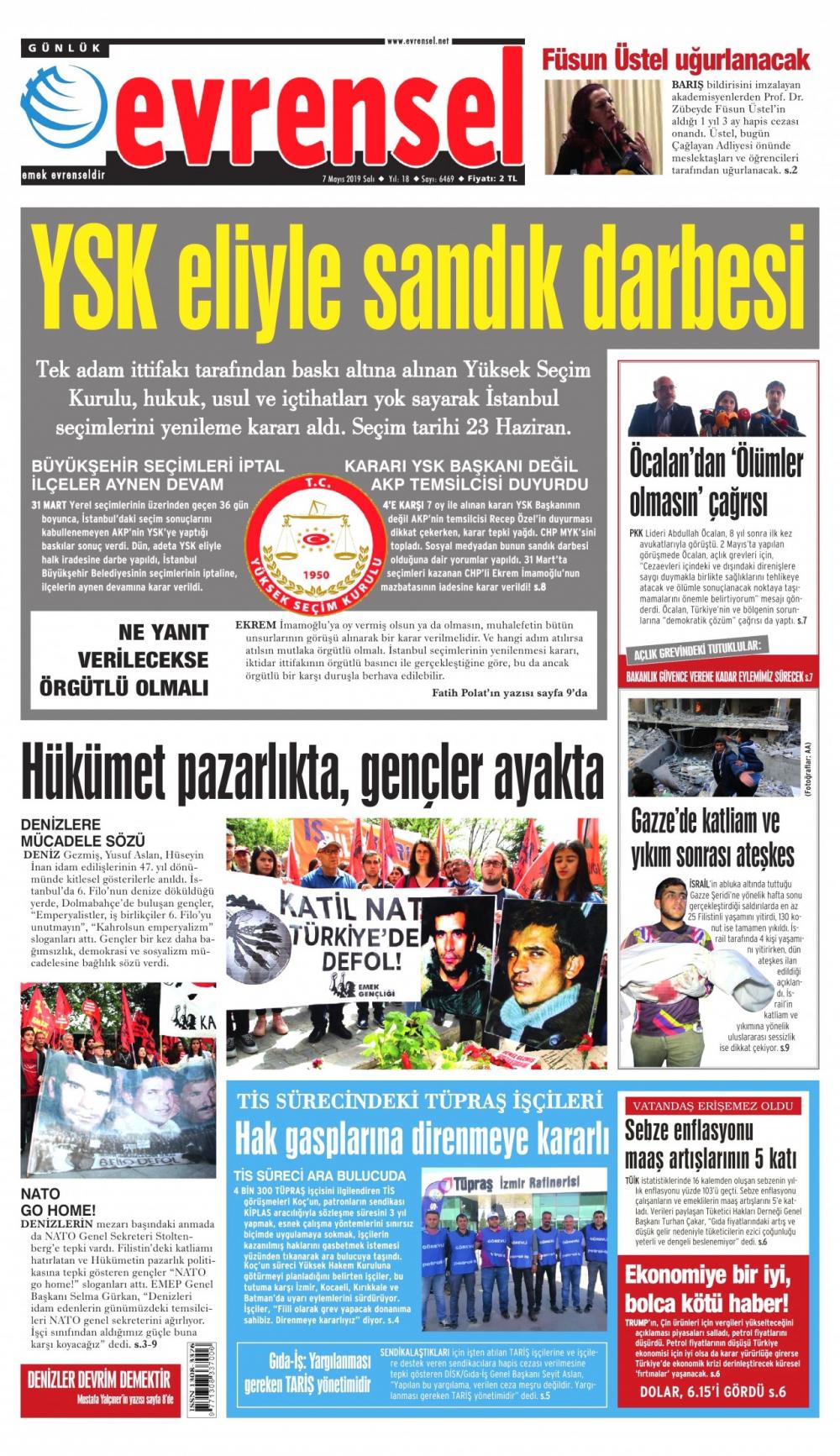 Seçim iptalini Türk basını nasıl gördü? galerisi resim 13
