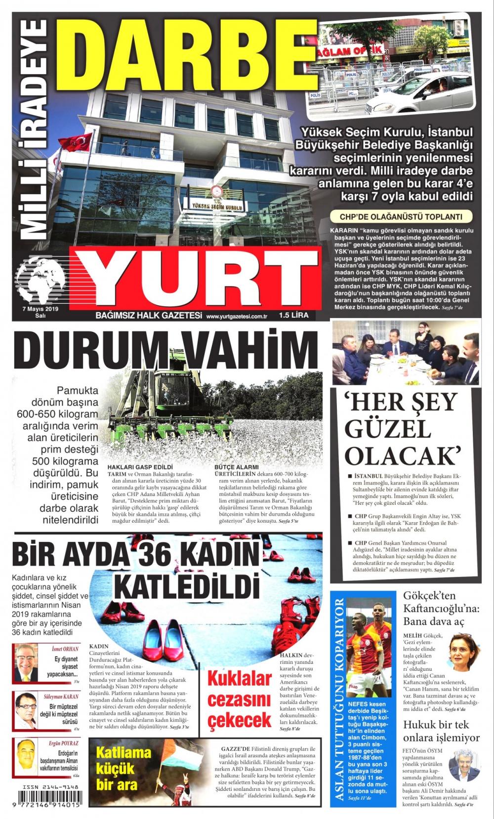 Seçim iptalini Türk basını nasıl gördü? galerisi resim 14