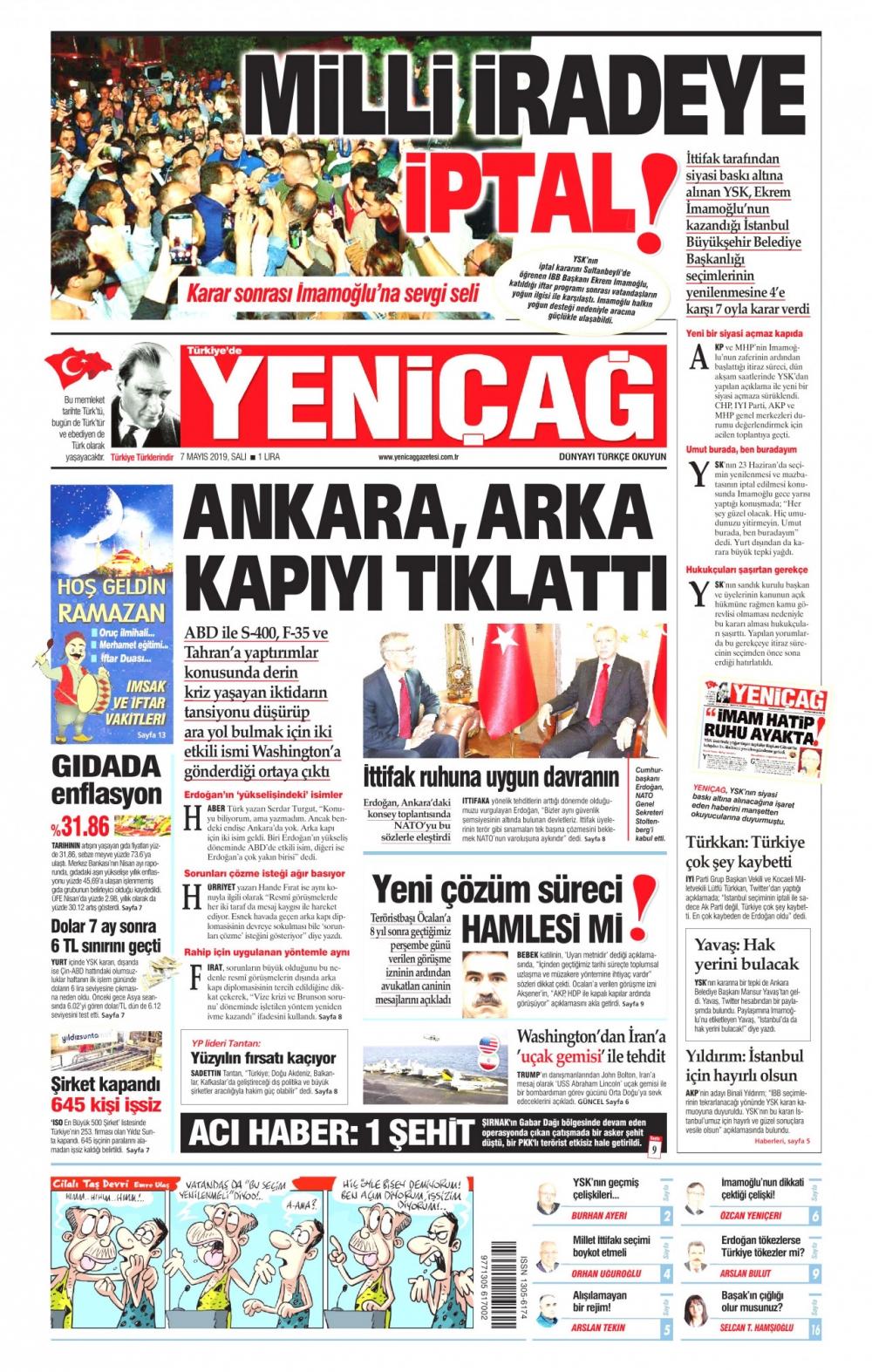Seçim iptalini Türk basını nasıl gördü? galerisi resim 15