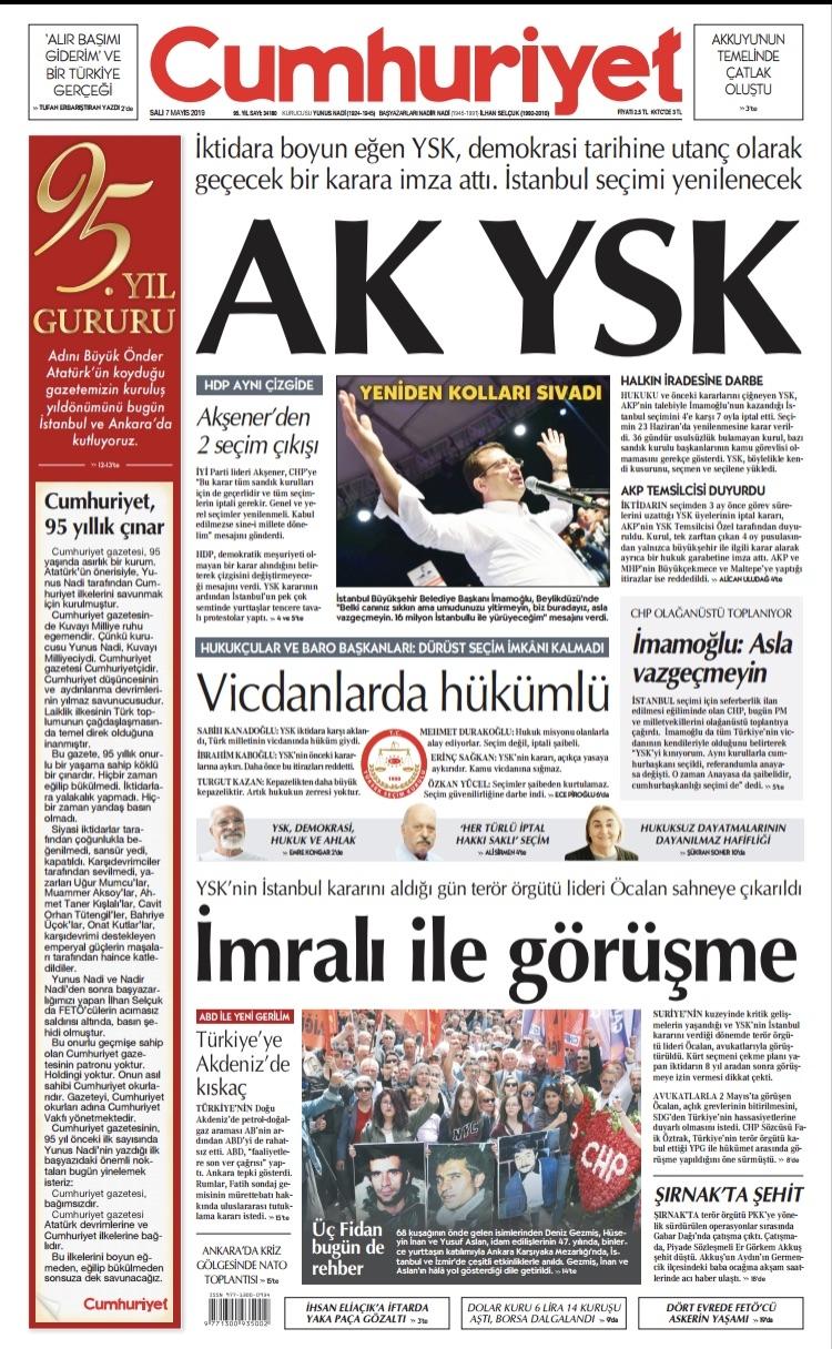 Seçim iptalini Türk basını nasıl gördü? galerisi resim 17