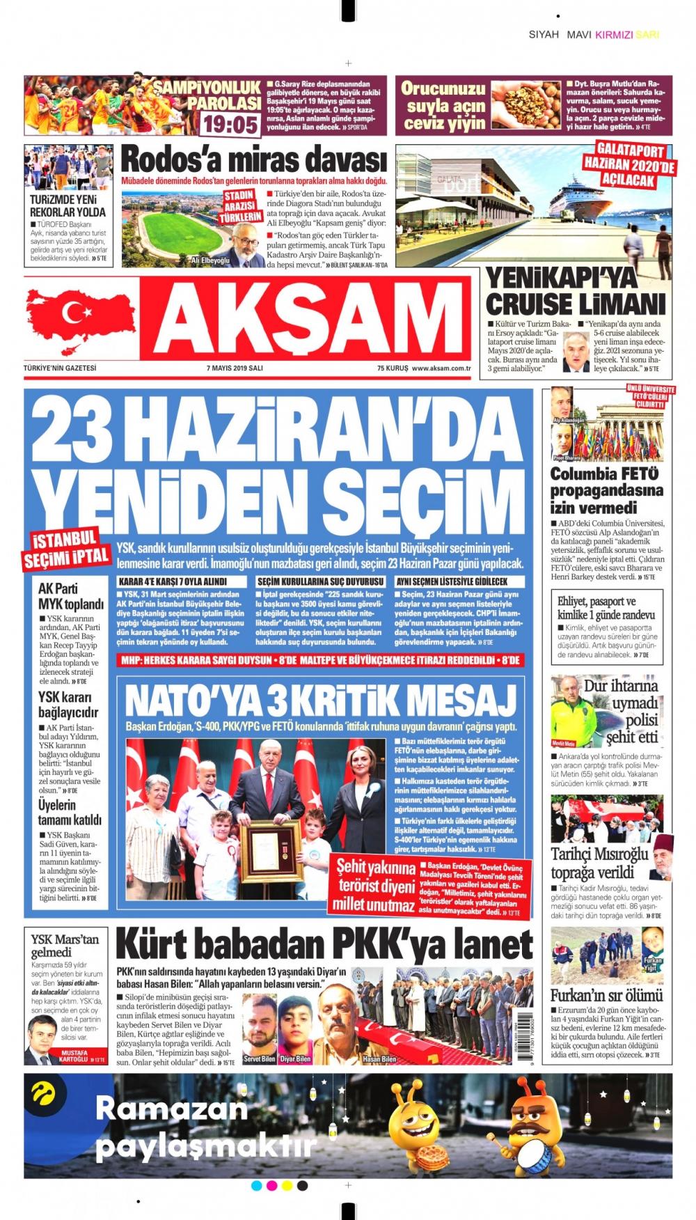 Seçim iptalini Türk basını nasıl gördü? galerisi resim 2