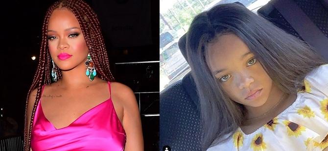 Rihanna'yı bile şaşırtan benzerlik! galerisi resim 1