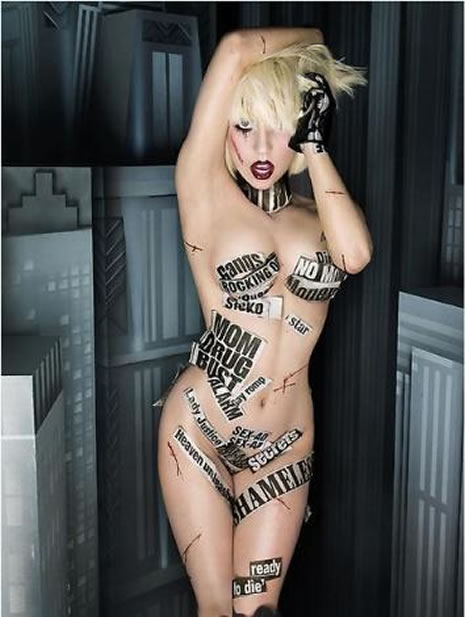 Lady Gaga, Çırılçıplak poz verdi galerisi resim 1