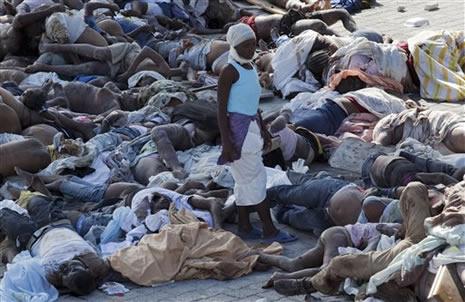 Haiti'de cesetler havada uçuşuyor galerisi resim 6