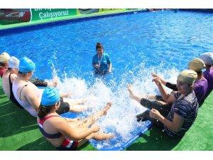 Büyükşehirden portatif yüzme havuzu