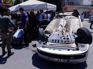 Kahta'da iki araç çarpıştı: 3 Yaralı