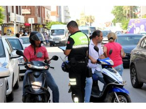İskenderun'da şehir içi trafik denetimi