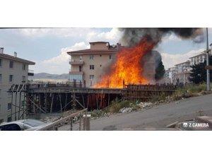 Ankara'da inşaatta korkutan yangın