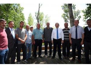 Vali Ali Hamza Pehlivan Şalcılar Köyü'nü ziyaret etti