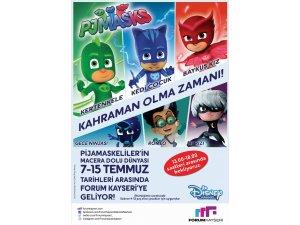 Pijamaskeliler'in maceralı dünyası Forum Kayseri'de