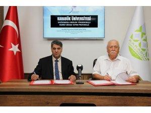 Şefik Dizdar ile 'Safranbolu MYO Binası Yapım Protokolü' imzalandı
