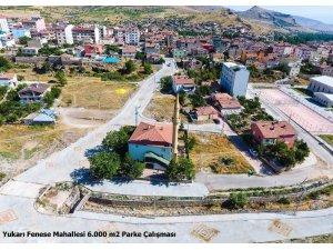 Develi Fenese Mahallesinde parke çalışmaları tamamlandı