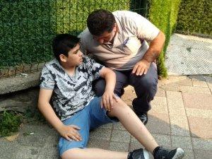 Dolmuşun çarptığı çocuk yaralandı