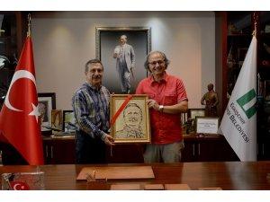 Başkan Ataç'a özel hediye