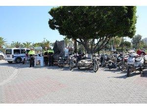 Mersin'de 195 motosiklet trafikten men edildi