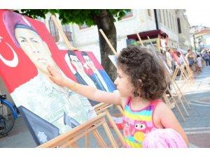 15 Temmuz Şehitleri resim sergisiyle anıldı