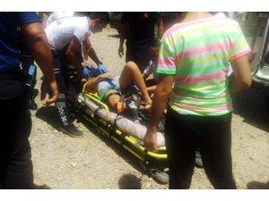 Park halindeki araç genç kızın hayatını kurtardı