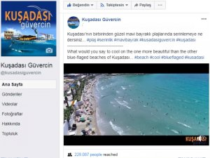 Kuşadası Güvercin, takipçilerini Kuşadası plajlarına davet ediyor