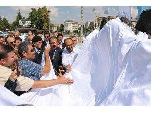 Şehit baba oğul anıtı açıldı