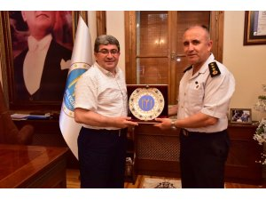 Jandarma Albay Muammer Ergaş'tan Başkan Can'a veda ziyareti