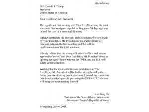 """Kuzey Kore Liderinden Trump'a: """"Ekselansları"""""""
