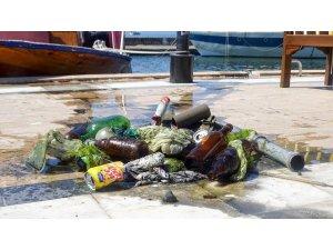 Köyceğiz Gölü'nde temizlik