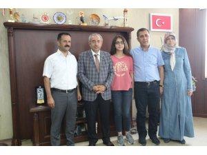 Rektör Battal, LGS birincisini tebrik etti