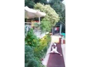 Adnan Oktar'ın villasına ilk baskın anı polis kamerasında