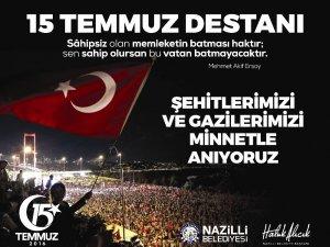Başkan Alıcık'ın 15 Temmuz Demokrasi ve Milli Birlik Günü mesajı