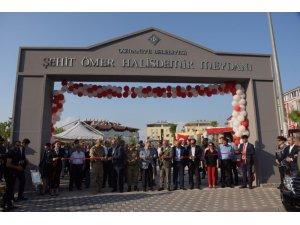 Osmaniye'de Şehit Ömer Halisdemir Meydanı törenle açıldı