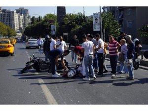 Şişli'de yunus polisi kaza yaptı: 2 yaralı