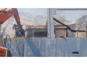 Aydın Nazilli'de fabrika yangını