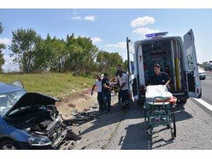 Çorlu'da bayram dönüşü kaza: 2 ölü, 5 yaralı