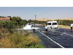Nusaybin'de içme suyu borusu patladı