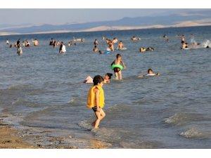 Bozkırın sahilinde bayram sonrası yoğunluk