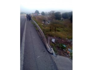 Otomobil şarampole yuvarlandı, kazada baba ve 4 çocuğu yaralandı