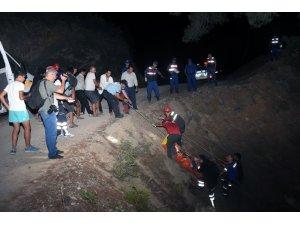 50 metrelik uçuruma uçan Off-Road sürücüsü ağır yaralandı