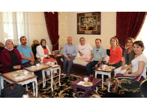 Yaman Hasar'dan Başkan Takva'ya geçmiş olsun ziyareti