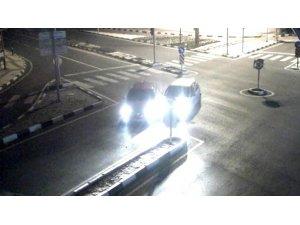 Manisa'da trafik kazaları şehir polis kamerasında