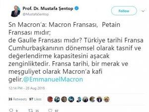 TBMM Başkanvekili Şentop'tan Macron'a tepki