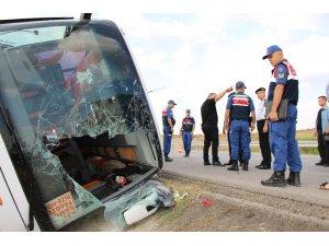 Amasya'da yolcu otobüsü devrildi: 1 ölü, 12 yaralı