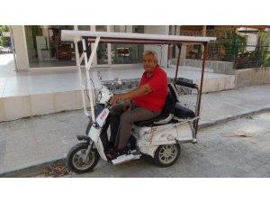 Japonlardan gördü bin liraya güneş panelli bisiklet icat etti