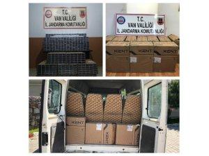 Jandarma, 3 ayrı operasyonda 10 bin 650 paket kaçak sigara ele geçirdi